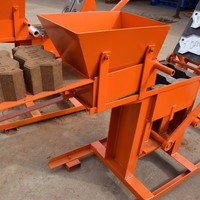 Small Manual clay interlocking brick making machine QMR2-40 machines for sale