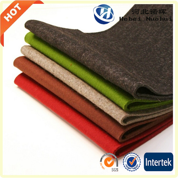 Colored polyester felt /Felt factory /felted wool fabric