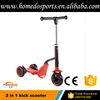 New 2 in 1 kick scooter 3 wheel scooter for kids