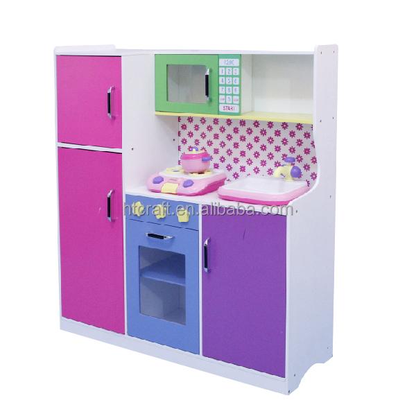 60x34x(H)92.5cm 3 Years Above MDF Kids Wooden Toy Kitchen Set With ...