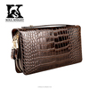 SK-3028 promotion double zipper handbag crocodile grain leather bag for men
