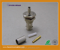 BNC Connector Female Bulkhead Crimp for Flex-3 Cable