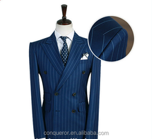 elegant men's suit dress Fashionable high Quality custom made pinstripe suit for men KR60589 made in China