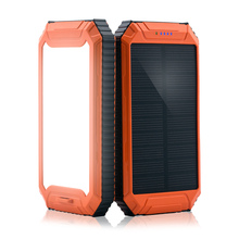 PowerGreen 5V 2A 10000mAh Portable Battery Solar Power Bank Mobile Phone USB Charger Monocristalline With LED Light
