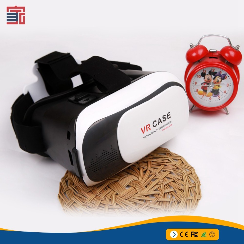 Plastic VR 3D Glasses google cardboard HD Glasses for 3.5-6.0 inch Phone+Bluetooth Wireless Mouse gamepad VR BOX 3.0