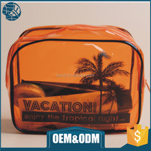 Customized unique pouch clear small travel pvc storage bag with logo