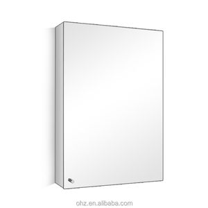 Simple style wholesale price stainless steel storage cabinet with mirror 7022