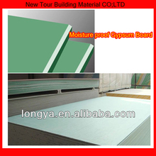 Green color gypsum board waterproof false ceiling