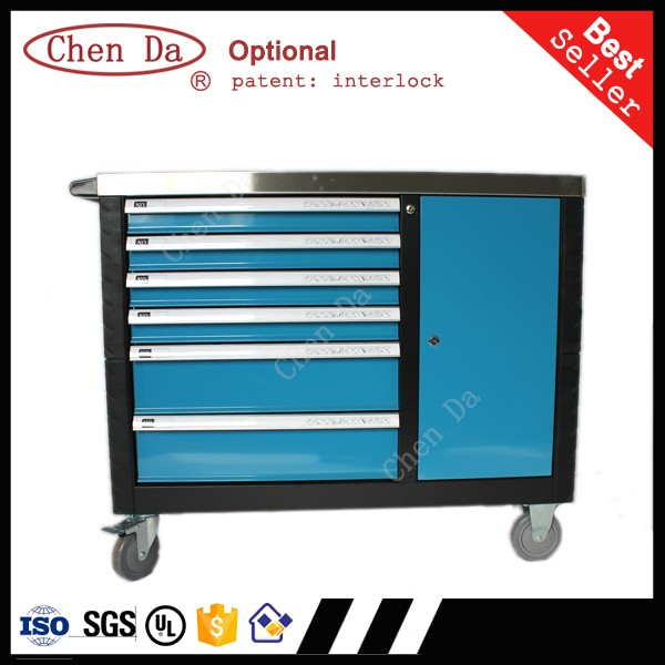 2016 new design tool storage cabinet with 6 drawers and a for Door new design 2016