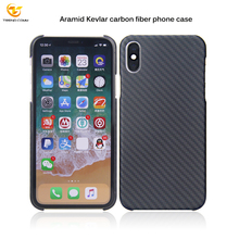 Waterproof Ultra-thin real Aramid Kevlar carbon fiber phone case for apple Iphone X