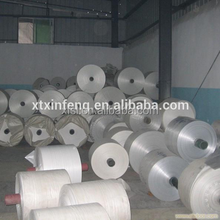 White woven bag rolls / fabric roll / PP woven tubular fabric for woven bag