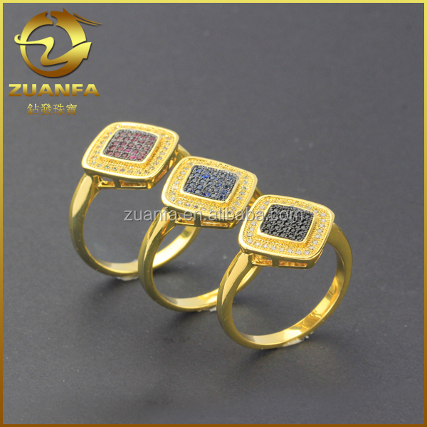 wholesale micro pave gold plated cz guangzhou silver jewelry
