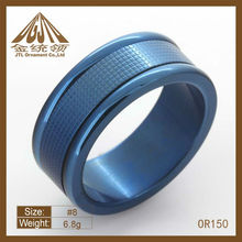 blue beautiful stainless steel index finger ring OR125