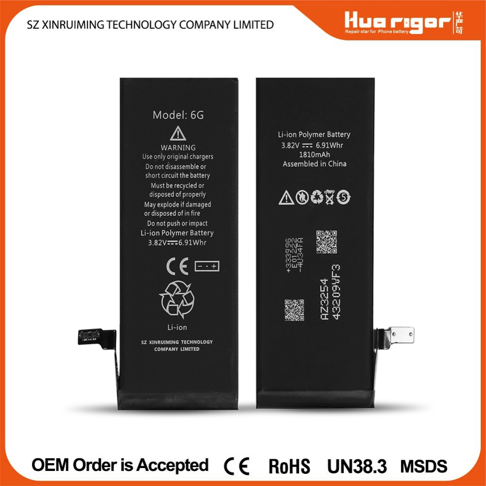Brand New mobile phone battery MSDS, UN38.3 Certified big battery mobile phone for phone 6G,