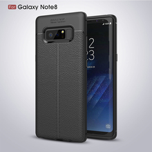New Style 3d Silicone Litchi Grain Mobile TPU Bumper Cover Phone Case For Samsung Galaxy Note 8 Manufacturing