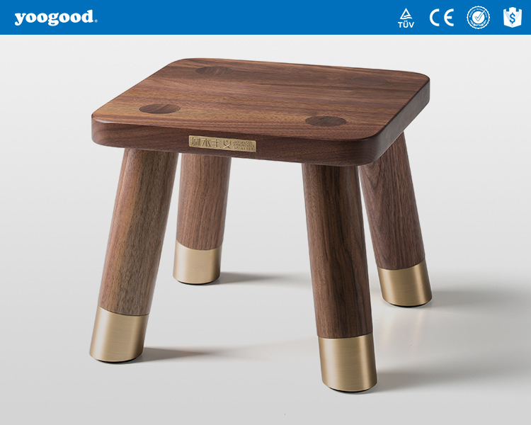 Yoogood Solid Wood with Small wood Stool