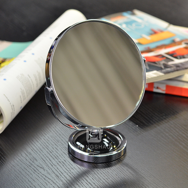 1X or 2X double side illuminated cosmetic mirror
