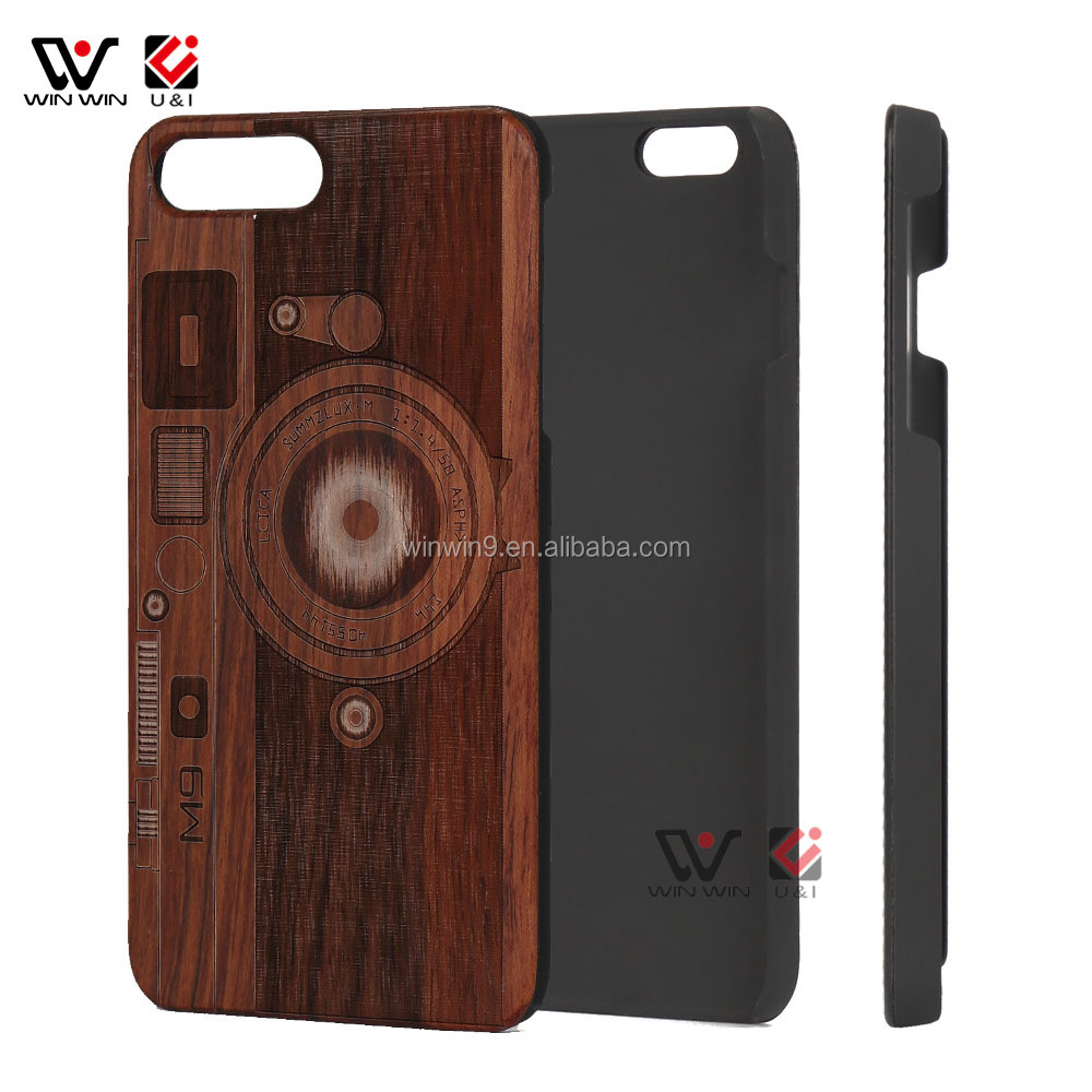 High Quality <strong>100</strong>% Solid Custom Wooden Bamboo Wood +PC Hard Cell Phone Case for i phone 7 <strong>plus</strong>,Wholesale Phone Case Cover