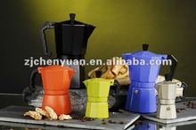Aluminum yellow gas coffee maker coffee automat-
