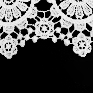 Water soluble garment decoration silk fabric white polyester lace trim