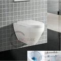 MINI WC WALL mounted TOILET! WATERMARK Bathroom Sanitary Ware Small RIMLESS Toilet