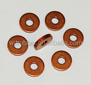 Zhejiang manufacturer of flat copper sealing washer.with good quality.