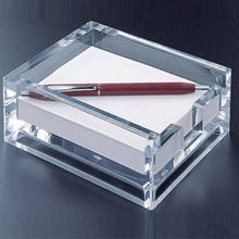 clear acrylic note paper holder boxes