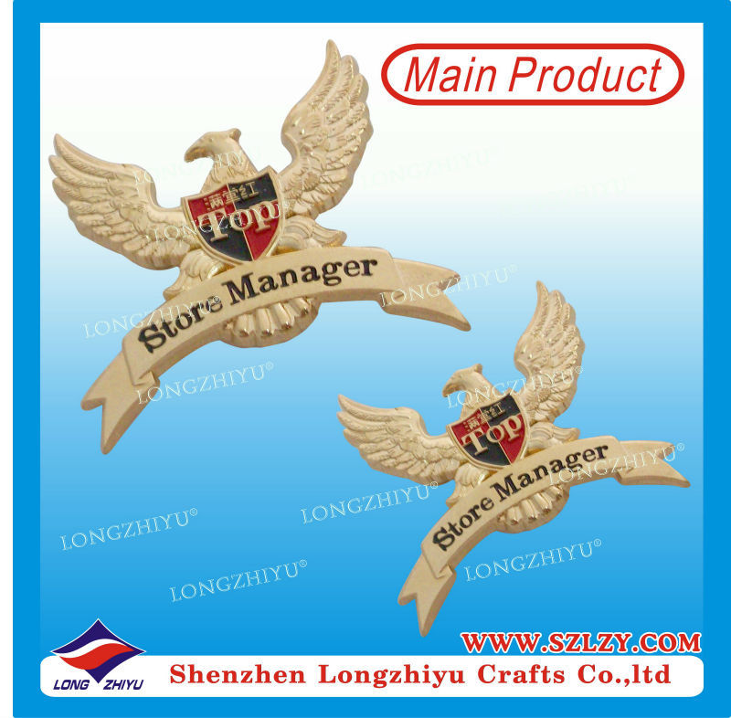 Wholesale Hot Sale Custom Enamel Eagle Car Badge Plate,Metal Grill Eagle Badge Emblem