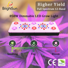 BrightSun COB LED Grow Light Full Spectrum for Indoor Plant Seedling Veg Flower 12 Band 3 Dimmers Hydroponics Growing Lights