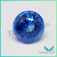Hot New Product Quartz Gems Crystal Stone Price 11m Round Shape Sri Lanka Blue Natural Loose Gemstones Imperial Topaz