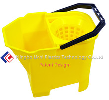 Plastic injection buckets cleaning tools with mop wringer