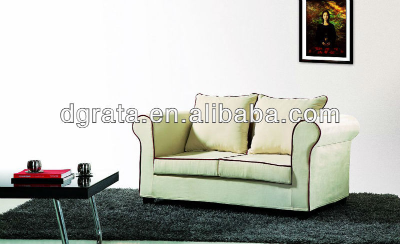 2013 South African style fabric white sofa sets is made fabric and solid wood frame for the living house furniture