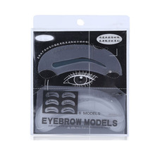 6 in 1 Wholesale Beauty Tools Plastic Eyebrow Stencils Makeup Tools Stencil