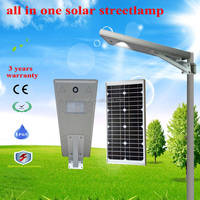 20w 3 years warranty all in one solar led street light , solar street lamp with top quality and competitive prices