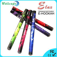 Promotional strong smoke 500 puffs elax e-hookah accept paypal