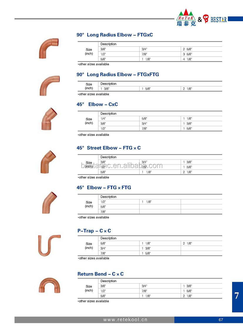 Long radius elbow c copper tube pipe fitting buy