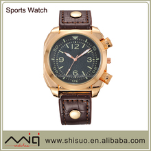 2015 Leather Strap Men watch Sports Military vogue watch