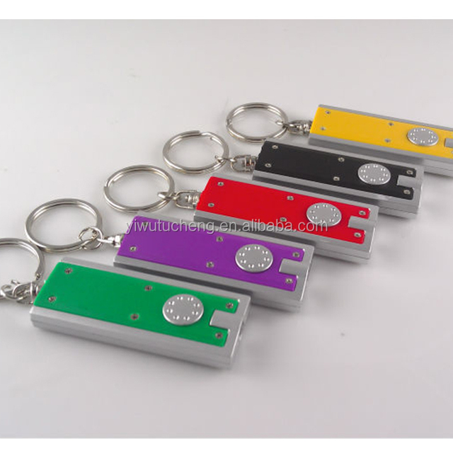 Mini 1 LED Flashlight Carabiner Torch Clip Keychain Camping Lamp Hiking Hook Key Chain Flash light we can Customize logo