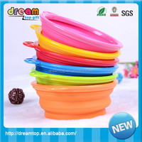 Factory Best Selling Foldable Silicone Collasible Dog Travel Bowl