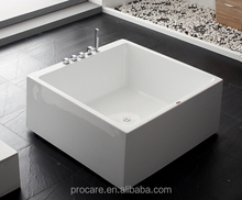 Freestanding Modern acrylic Bathtub of square shape soaking tub factory directly sell looking for wholesaler only...