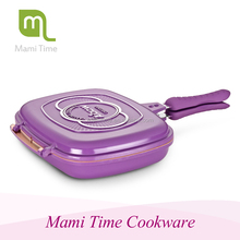 Hot sale Happy Call Double Side Fry Grill Pan 40cm with colorful