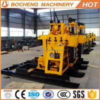 Super quality unique construct equipment rotary drilling rig/200m portable skid water well drill rig