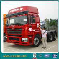 popular 420hp 10 wheeler Shacman tractor trucks with single bed EURO 3 for cargo