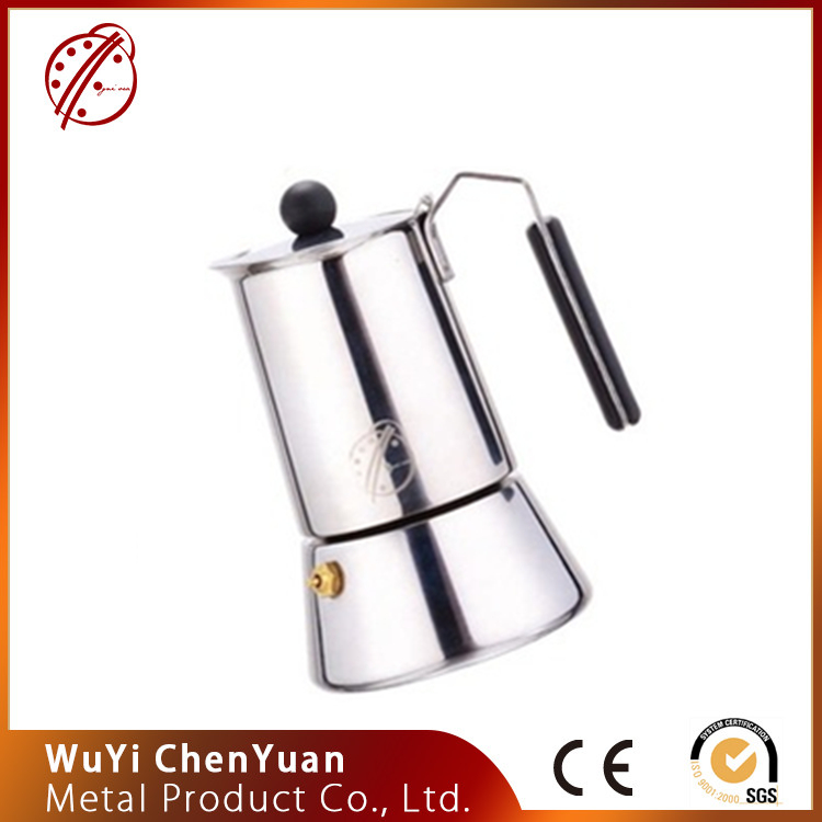 Fashionable style Classic italian design different capacity mocha/Espresso coffee maker made in china
