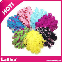 Wholesale colorful nagorie curly feather pad