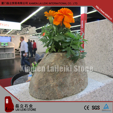 Indoor Granite Polished Flower Pot Rock