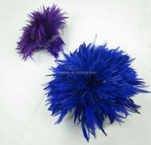 DIY Feather Material Dyed Strung Rooster Coque Saddle Feather
