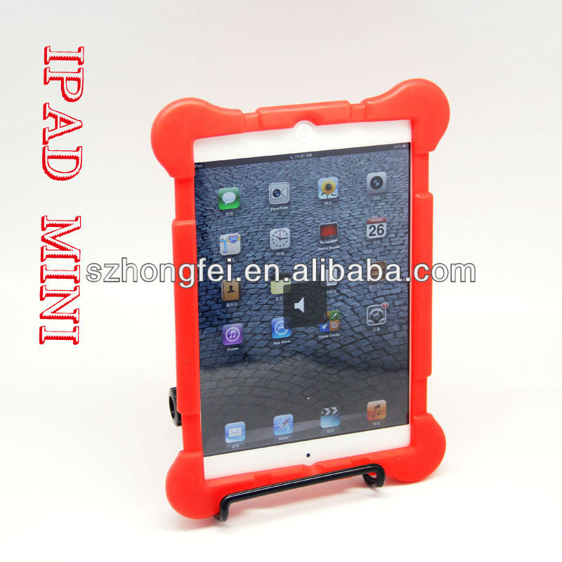 wholesale two color mix thick silicone rubber drop resistance tablet case for ipad mini