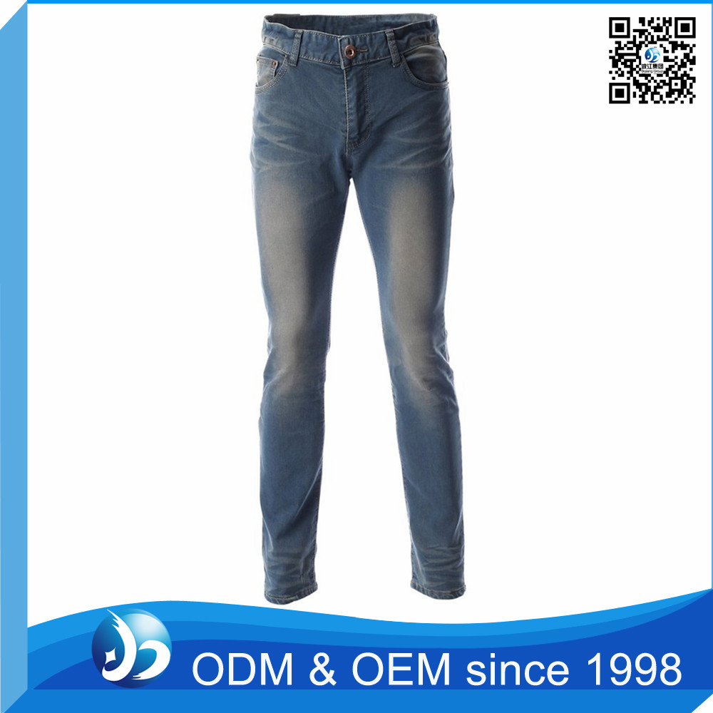 Custom Mens Red Blue Denim Jeans Manufacturers
