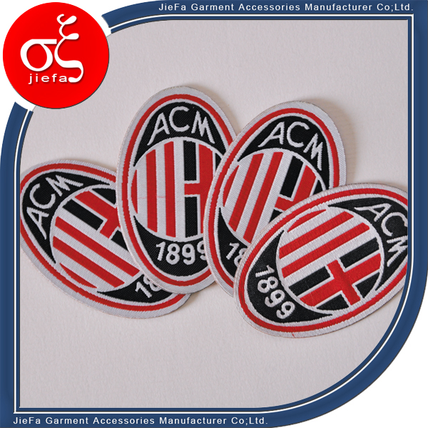 Good Quality Straight Cut Smoothly Stone Work Patch Woven Patch for Clothing
